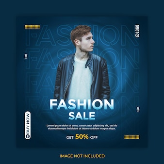 Fashion sale social media post or instagram banner template