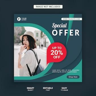Fashion sale social media post template