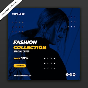 게시물 템플릿-패션 판매 소셜 미디어
