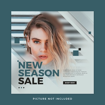 패션 판매 소셜 미디어 템플릿