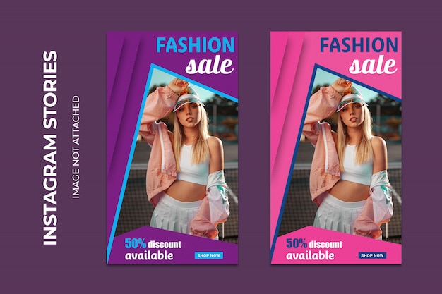 Fashion sale social web banners premium