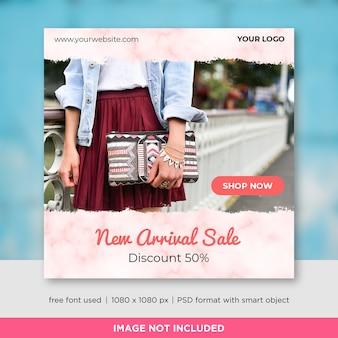 Fashion sale square banner template design for instagram post