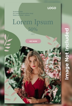 Fashion sale template for social media post