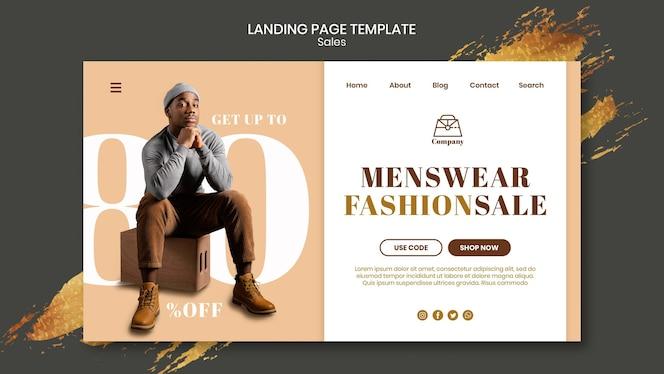 Fashion sales landing page template