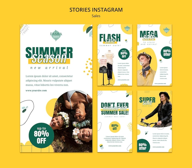 ファッション販売ソーシャルメディアストーリー