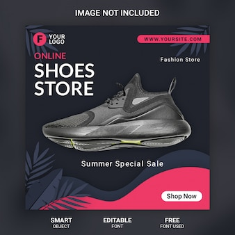 Fashion shoes banner template