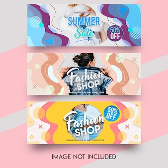 Fashion shop facebook cover template Premium Psd