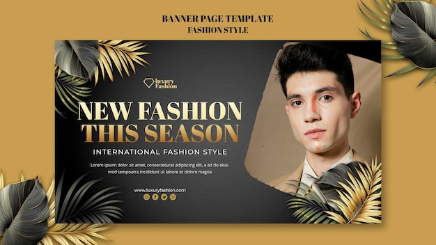 Modello di banner di sfilata di moda con foto