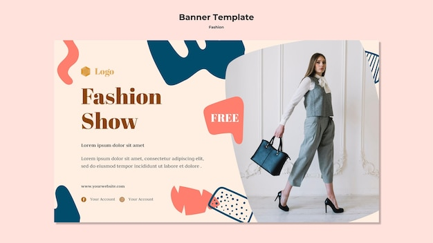 Fashion show banner template