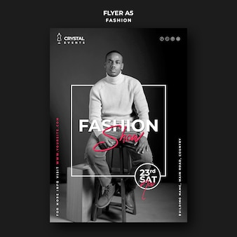 Fashion show event flyer template