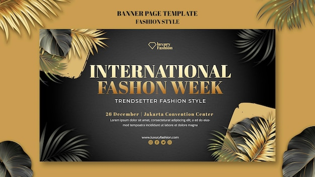 Fashion show horizontal banner template