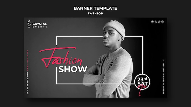 Fashion show horizontal banner