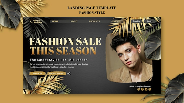 Fashion show landing page template