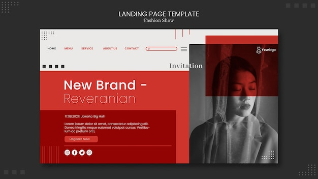 Fashion show landing page theme