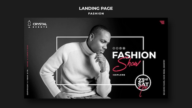 Fashion show landing page