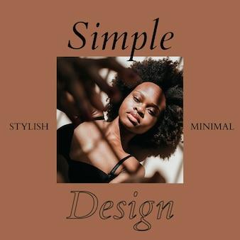 Modello di banner sociale di moda psd design semplice e minimale
