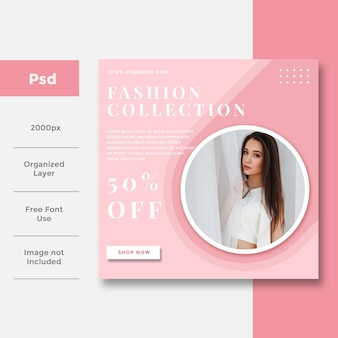 Fashion social media banner ad design