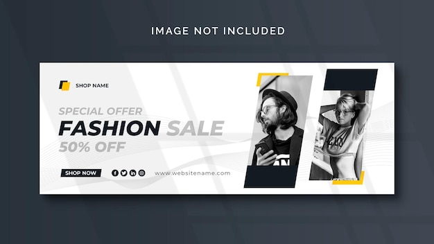 Fashion social media banner or web template