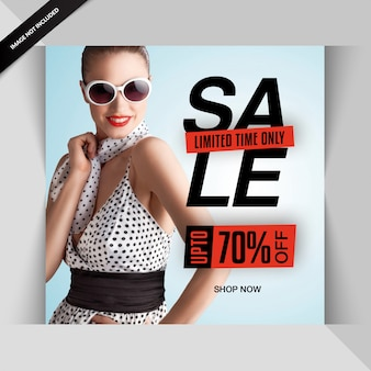 Fashion social media exclusive post template or banner