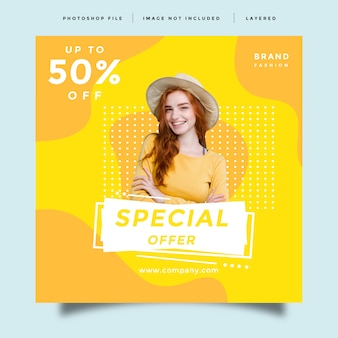 Fashion social media feed post promotion template