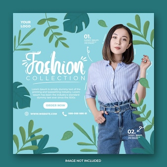 Fashion social media instagram post banner template