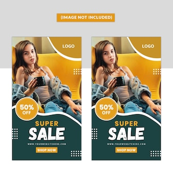 Fashion social media instagram story premium template
