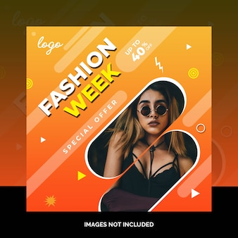 Fashion social media post design