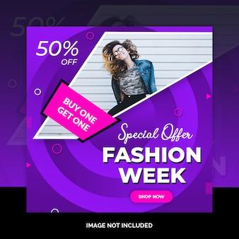 Fashion social media post design