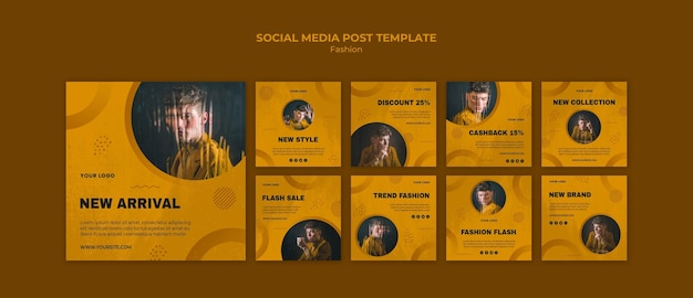 Fashion social media post