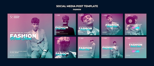 Сообщение о моде в социальных сетях