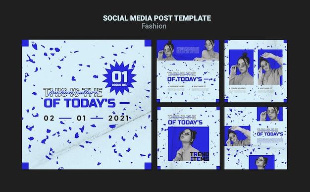 패션 소셜 미디어 게시물