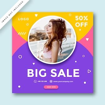 Fashion social media promotion  banner