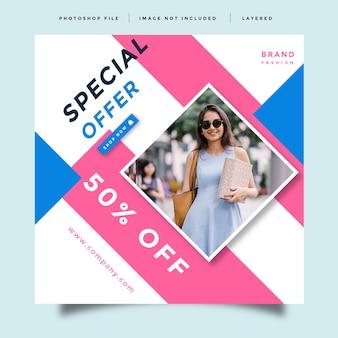 Fashion social media promotion design template