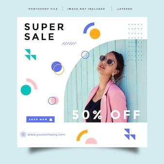 Fashion social media promotion template
