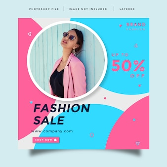 Fashion social media promotion  template