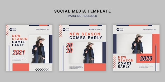 Fashion social media square post template