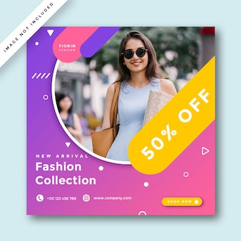 Рекламный баннер fashion social