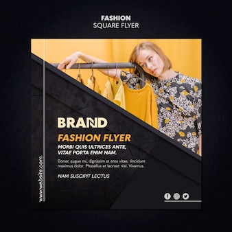 Fashion square flyer design