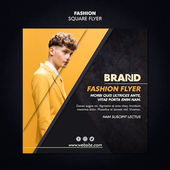 Fashion square flyer template style