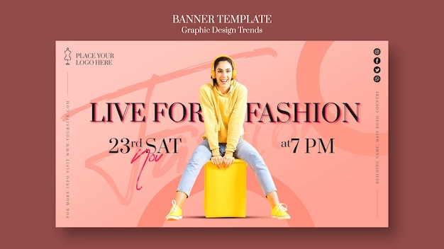 Fashion store ad template banner