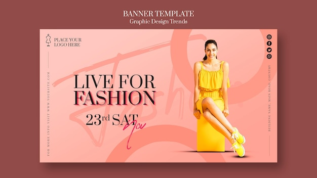 Fashion store banner template