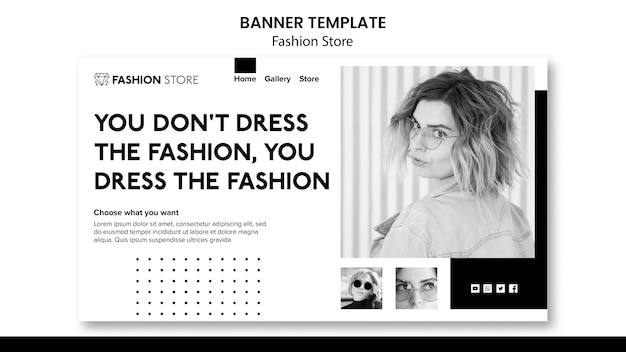 Fashion store concept banner template