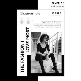 Fashion store concept flyer template