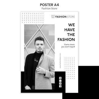 Fashion store concept poster template