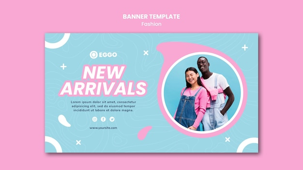 Fashion store horizontal banner template