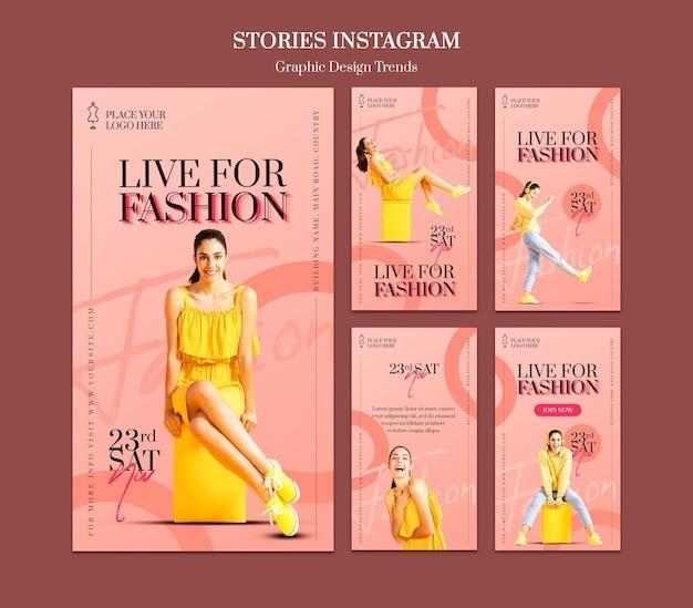 ファッションストアinstagramストーリーテンプレート