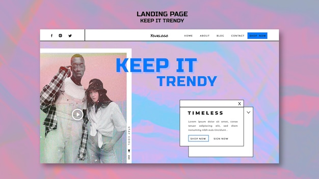 Fashion store landing page template