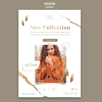Fashion store poster template