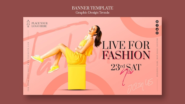 Fashion store promo template banner