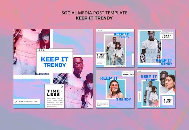 Fashion store social media post template